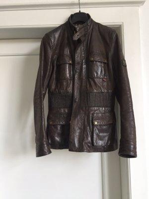 Belstaff Veste en cuir brun noir cuir