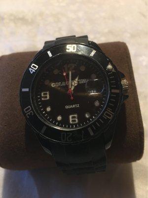 Galeria kaufhof Zegarek ze skórzanym paskiem czarny