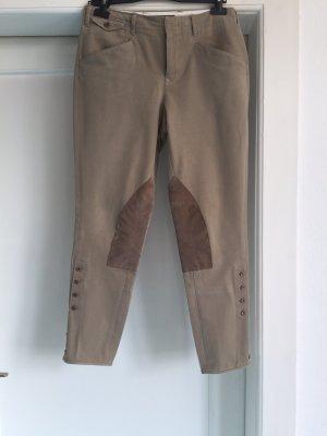 Ralph Lauren Riding Trousers grey brown cotton