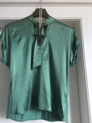 Hallhuber Bluzka z kokardą leśna zieleń
