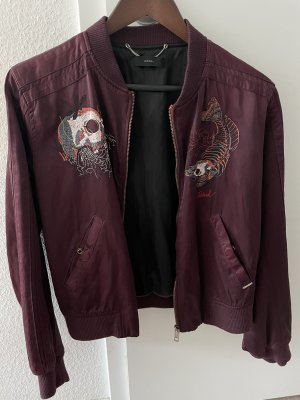 Diesel Giacca bomber marrone-rosso