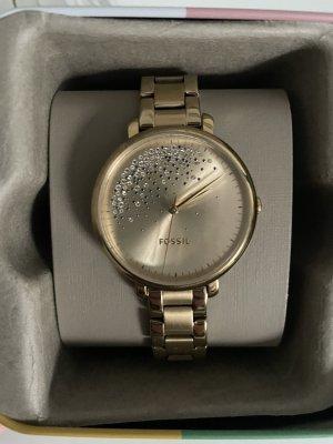 Fossil Zegarek z metalowym paskiem złoto