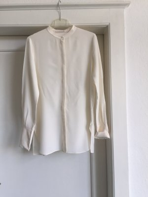 Schuhmacher Long Blouse natural white silk
