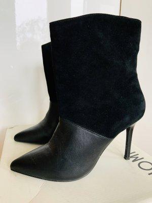 Eine Sommer-Geschichte in schwarz: Stiefeletten, High heels, 40