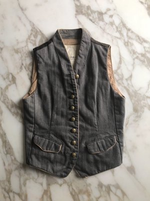 Denim & Supply Ralph Lauren Biker Vest anthracite cotton