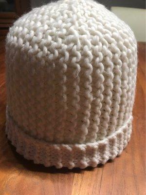 H&M Sombrero de punto blanco puro