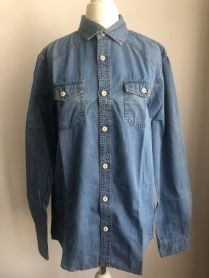 Review Jeansowa koszula niebieski
