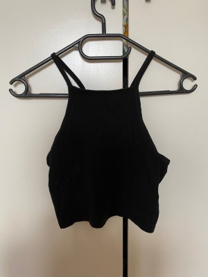 H&M Divided Top basic nero Cotone