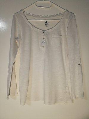 einfarbiges weißes Langarm Shirt Hemd von Tally Weijl