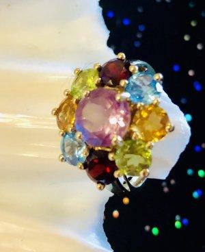 Echtgold Bague en or multicolore