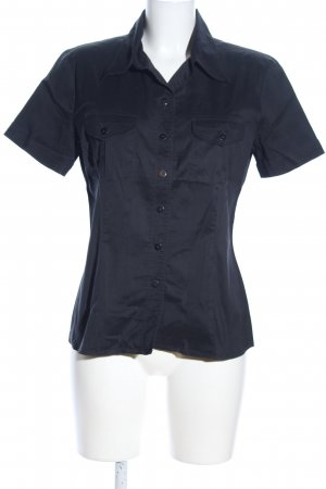 Einhorn Kurzarm-Bluse schwarz Casual-Look