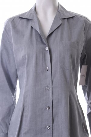 Einhorn Langarm-Bluse grau meliert Business-Look