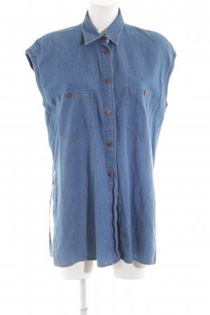 Einhorn Long-Bluse blau Casual-Look