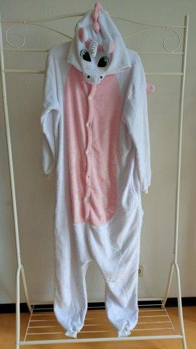 / Onesie blanc-rose fluo polyester