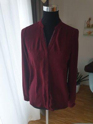 einmal getragene Bordeaux rote Bluse