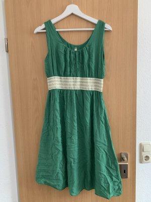 Robe stretch beige clair-vert
