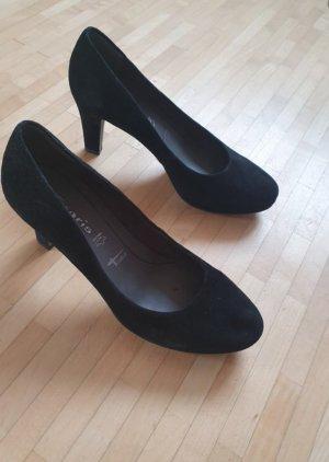 Einmalig getragene Tamaris Pumps, Gr. 38,5, schwarz