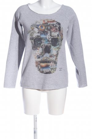 Einstein & Newton Strickshirt Motivdruck Casual-Look