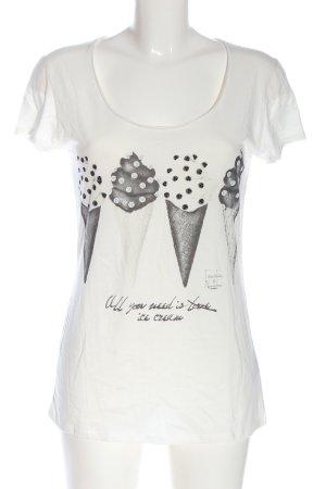 Einstein & Newton T-Shirt weiß-hellgrau Motivdruck Casual-Look