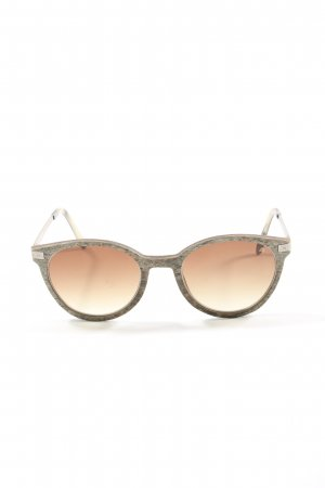 einstoffen Oval Sunglasses khaki-natural white casual look