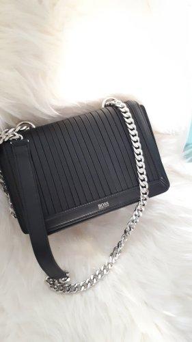 Hugo Boss Crossbody bag black-silver-colored