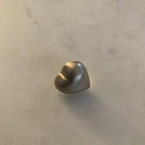einzelner Ohrring Herz Silber