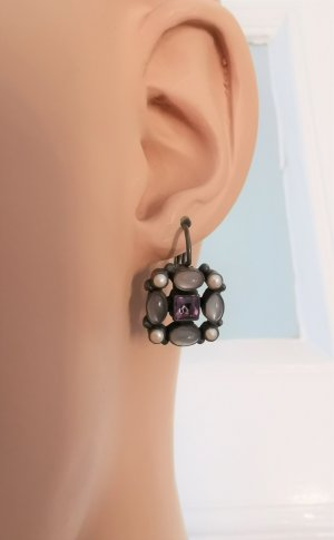 Boucles d'oreilles en argent multicolore