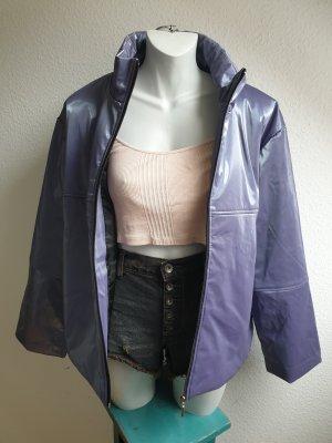 **Einzelstück** 90er Retro Jacke, Metallic Look in lila / taupe / mauve