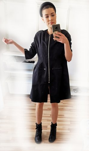 Oversized Coat black