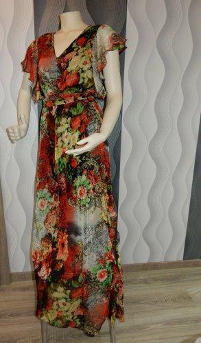 Einzelstück Handarbeit Kleid Gr.38-40 1x getr Maxikleid lang