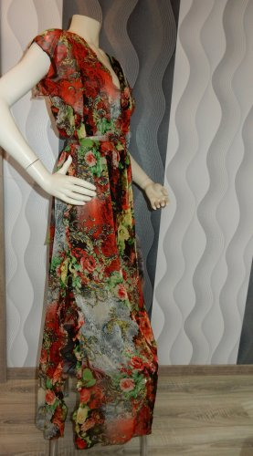 Sukienka z odcięciem pod biustem czarny-czerwony