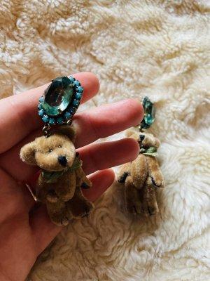 Einzelstück Rosa Templin Wunderschöne Teddybären Ohrringe Clip