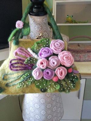 Biamo Handmade Sac à main multicolore mohair