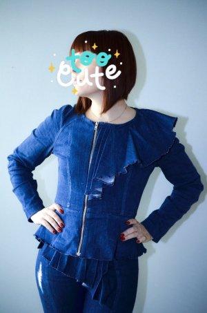 Vintage Spijkerblazer donkerblauw-blauw