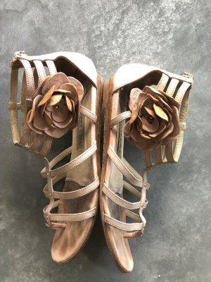 Jimmy Choo Sandały rzymskie stary róż-złoto Skóra