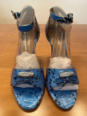 Armani Jeans Tacones de tiras azul celeste-azul claro