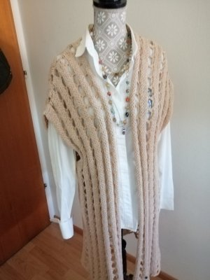 Frogbox Short Sleeve Knitted Jacket oatmeal-cream cotton