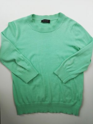 Apanage Short Sleeve Sweater lime-green-grass green