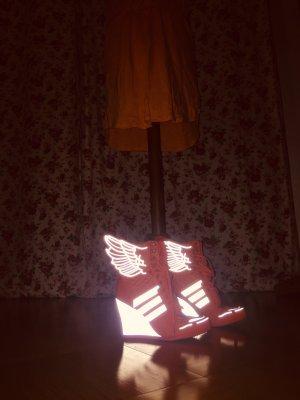 Adidas Sneakresy na obcasie pomarańczowy neonowy-pomarańczowy