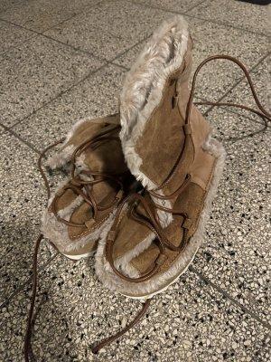 Laarzen met bont beige-lichtbruin