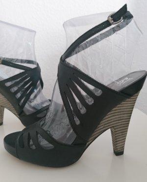 Bronx Sandales à plateforme noir cuir