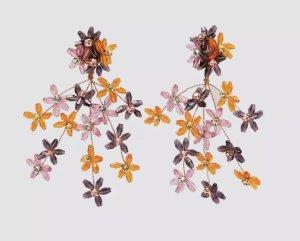 accessories Orecchino a pendente arancione-viola