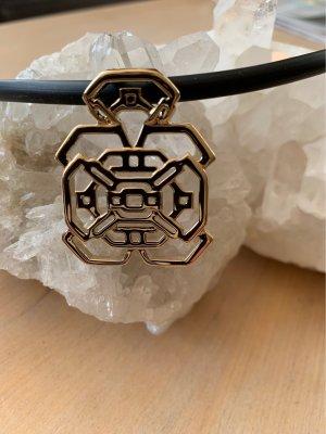 Pierre Lang Collar estilo collier negro-color oro