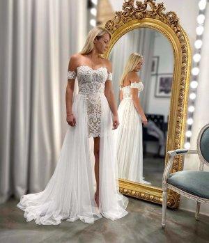 Designerstück Evening Dress natural white-white
