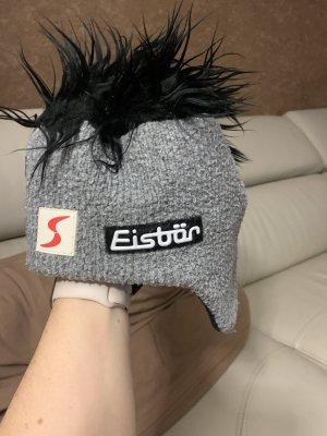 Eisbär Knitted Hat black-grey