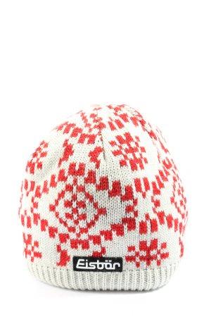 Eisbär Gorro tejido blanco-rojo look casual