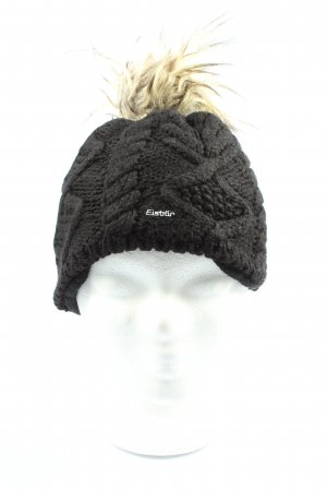 Eisbär Gorro tejido negro look casual