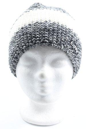 Eisbär Crochet Cap white-black striped pattern casual look