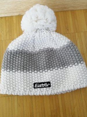 Eisbär Cappello a maglia bianco-grigio chiaro