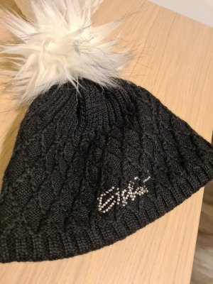 Eisbär Bobble Hat black mixture fibre